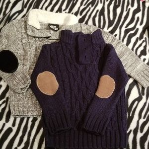 *2for1* Toddler elbow patch sweaters